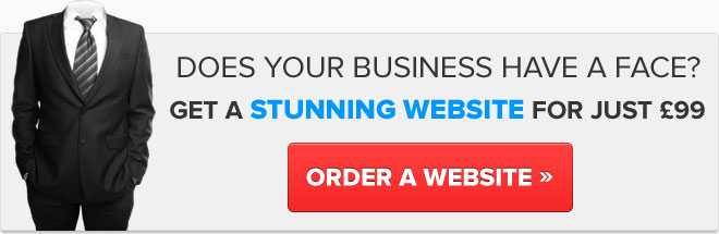 Get a stunning website for just £99